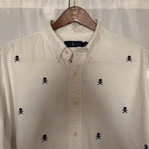 POLO RL Men's Big & Tall (3XB) Skull & Bones Shirt